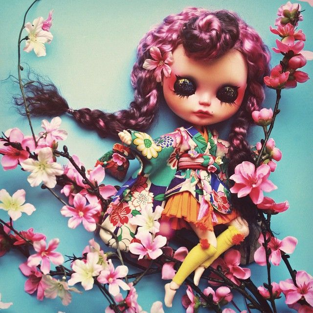 """ Kohana Little Flower G.Baby   Bop Allen collaboration for Auguste Clown Gallery exhibit. info@augusteclown.com #gbaby #gbabydolls #bopallen…"""