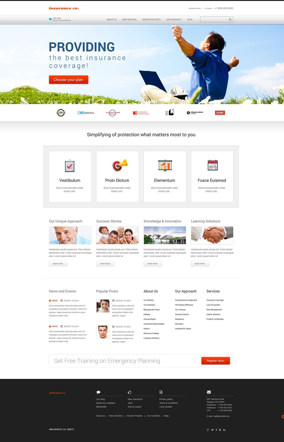 Insurance With Benefits Wordpress Theme 46567 With Images Wordpress Theme Wordpress Theme Responsive Real