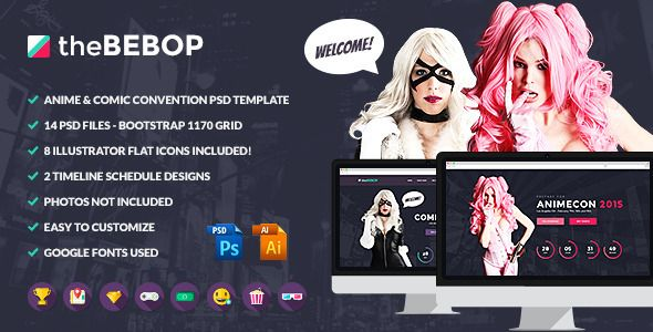The Bebop Anime And Comic Convention PSD Template The Has