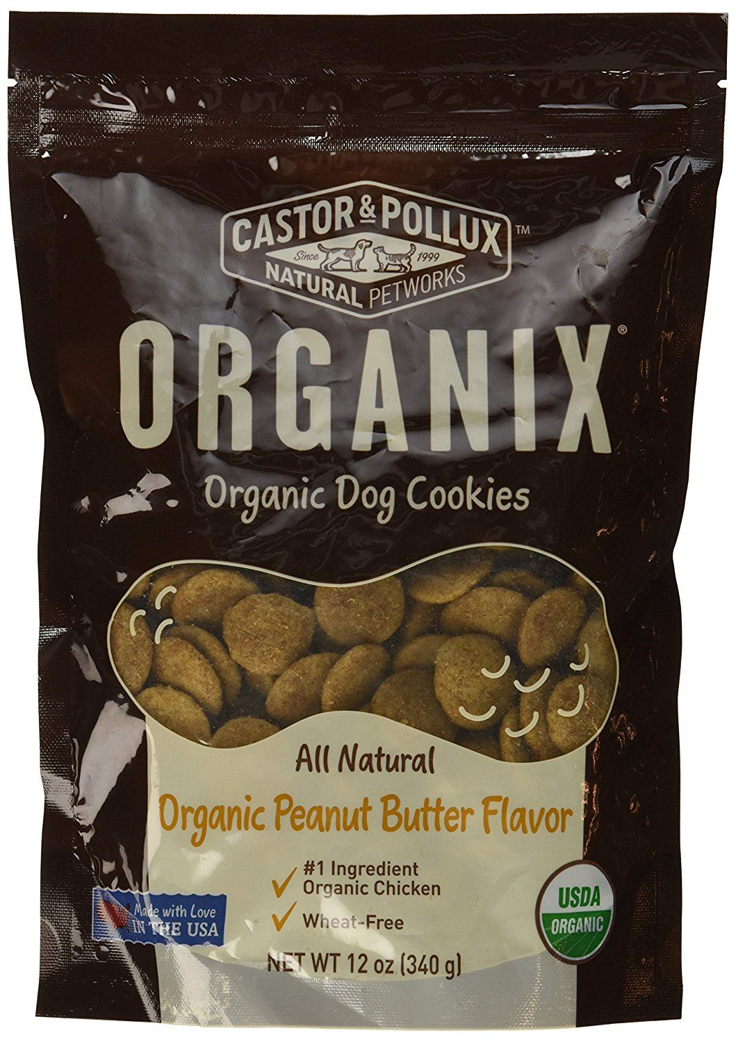 Organix Organic Dog Treat Cookies Peanut Butter 12 Oz Check