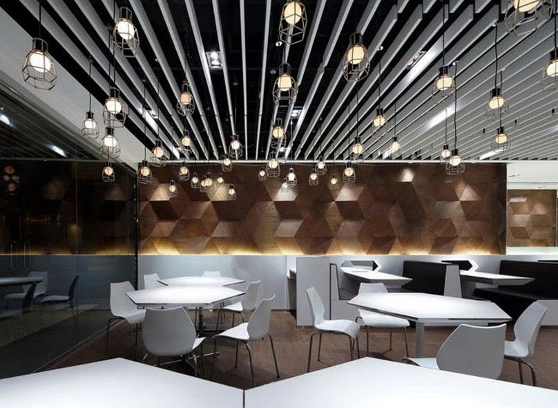 Decorating contemporary fast food restaurant design for Interior decoration pictures of restaurant