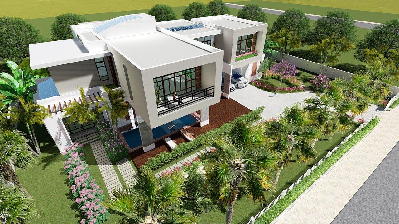 lumion 6 easy tip render sketchup modeling modern vila design 12 - Sketchup Home Design