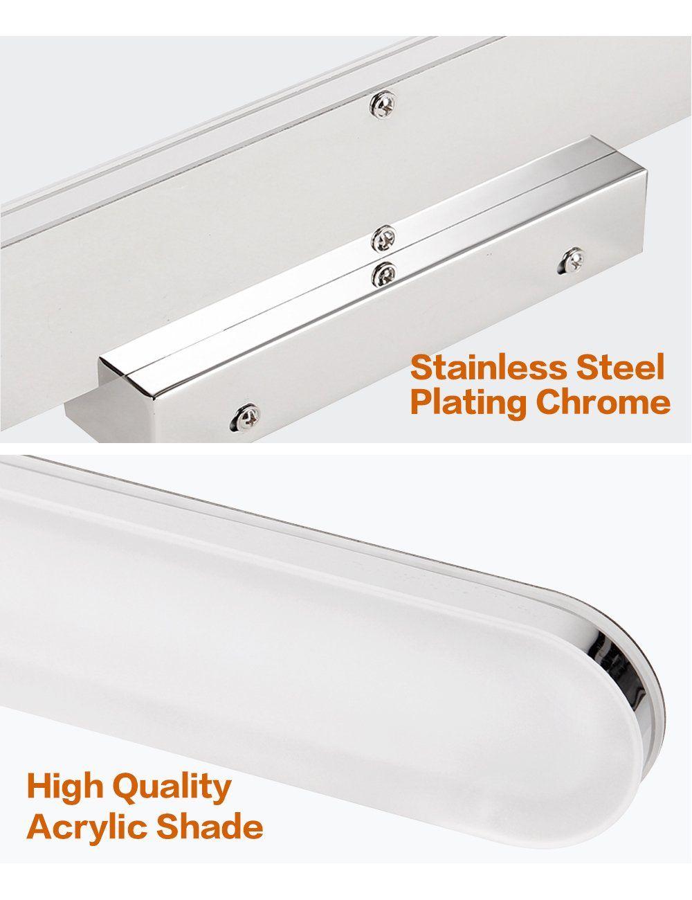 Led 31 5 Inch Bathroom Vanity Lighting Fixtures Stainless Steel