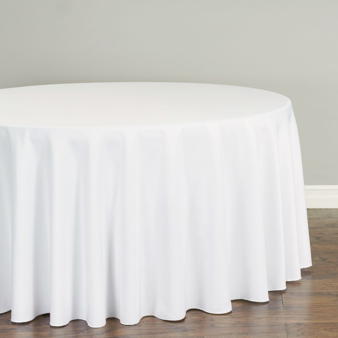 Check Out The Deal On 120 In Round Premium Polyester Tablecloth White At Linen Tablecloth Wedding Tablecloths Table Cloth Elegant Table