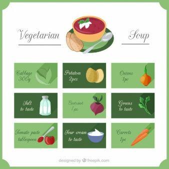 Receta de sopa vegetariana
