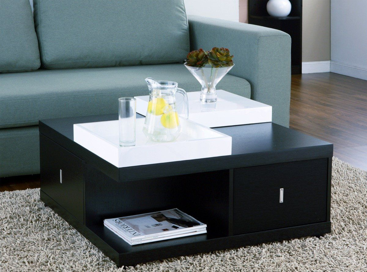 Furniture Of America Merlin Square Tray Top Coffee Table Black Based In California Furniture Coffee Table Square Black Square Coffee Table Black Coffee Tables [ 891 x 1200 Pixel ]