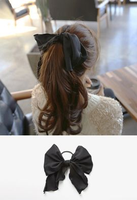 Black Ribbon Hair Tie  267adedcef5