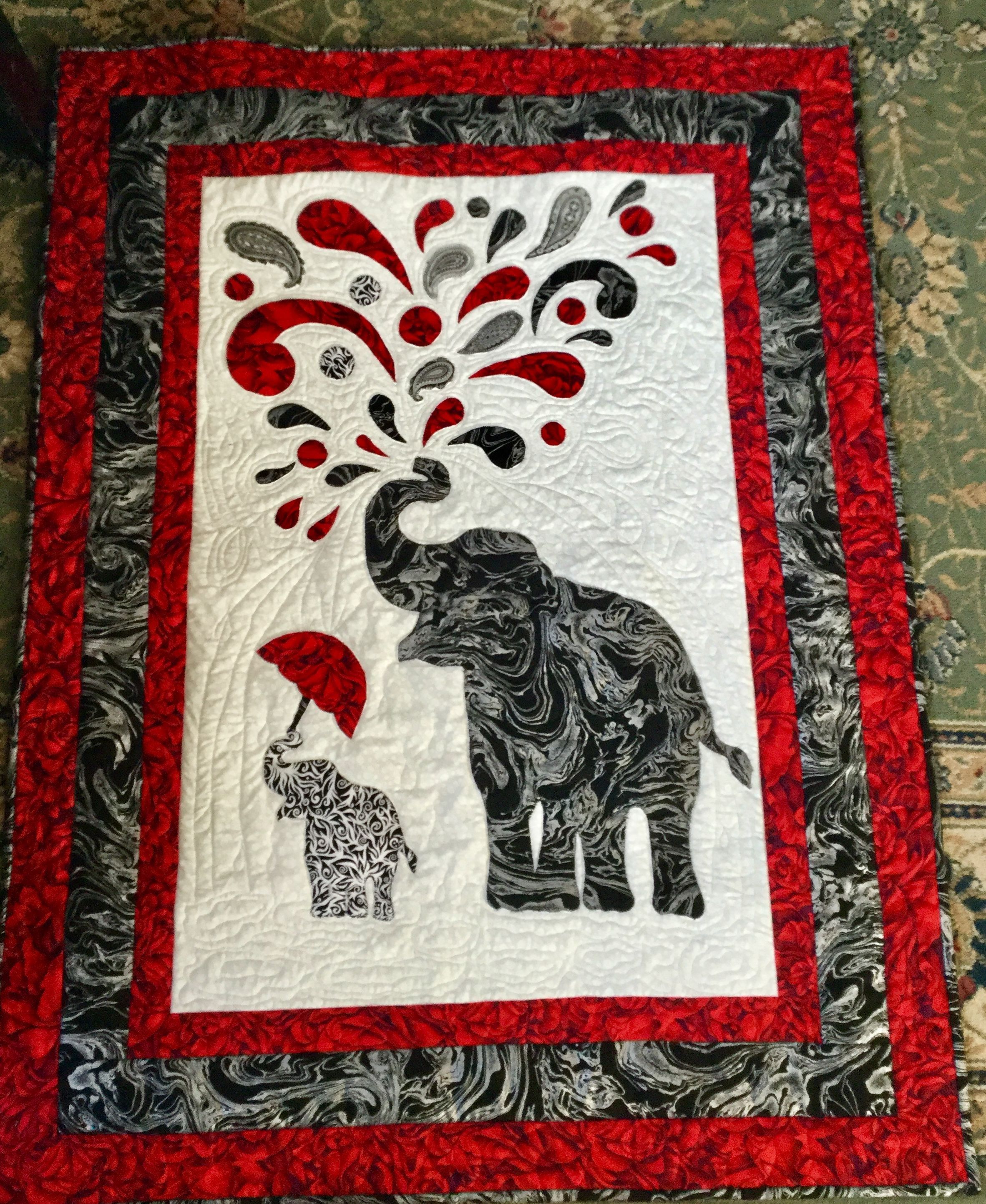 "1.5/"" Savannah Safari Elephant Embroidery patch"
