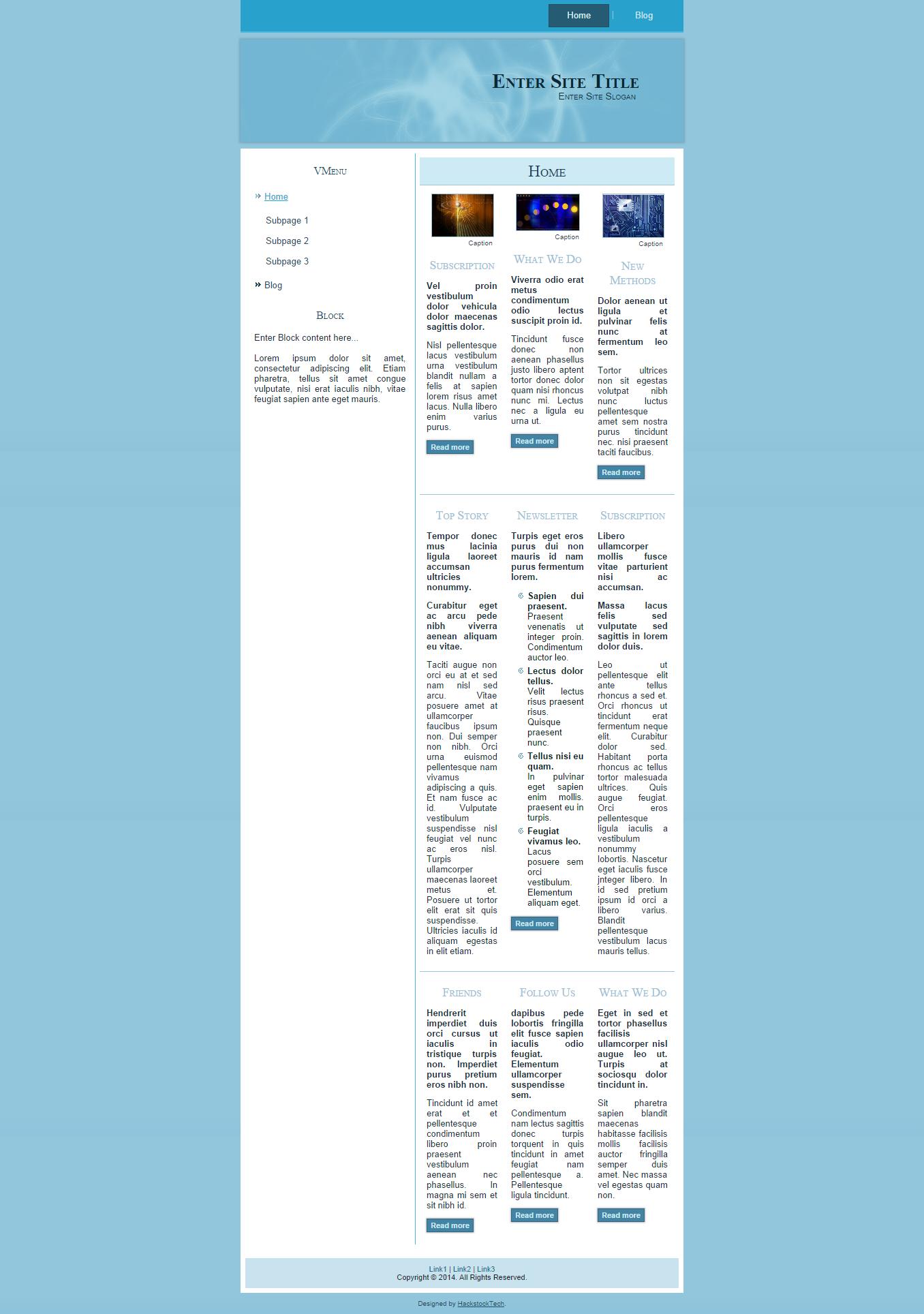 This The Blue Sky | HackstockTech | Web Design | Drupal theme ...