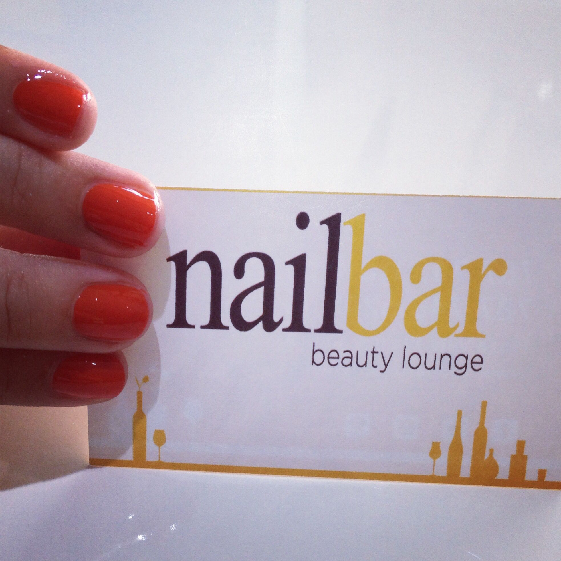 Manicure with Essie nail polish! (Color: Meet me at Sunset)