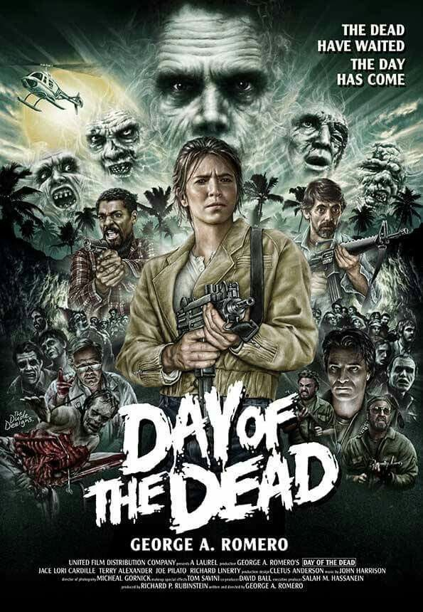 Day of the Dead. Romero movie, Horror movie icons