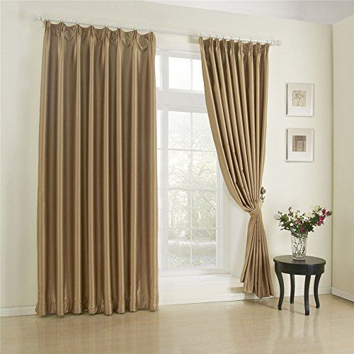 Iyuego Wide Curtains 120inch300inch For Large Windows Solid Khaki Classic Double Pleated Blackout Window Curtainsdrapepanelst Home Curtains Home Decor Curtains