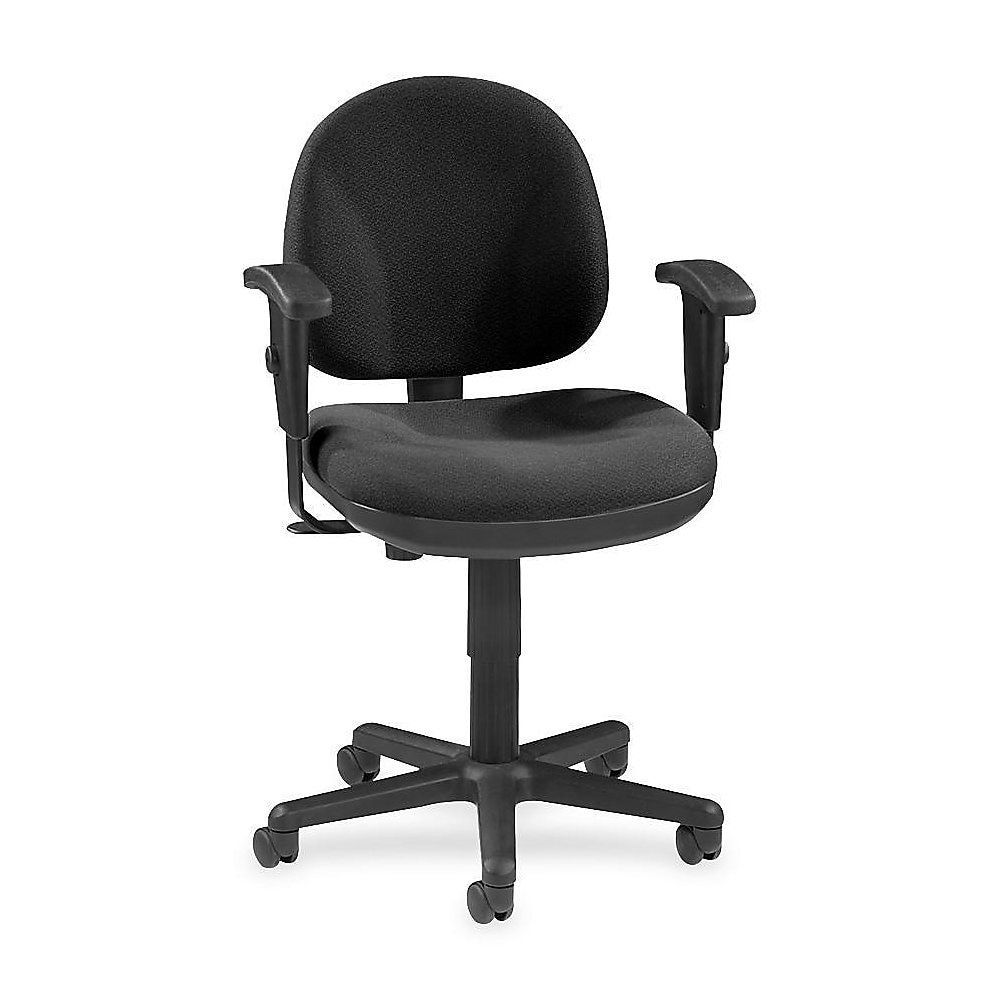 Lorell® Millenia Pneumatic Task Chair, Removeable Arms