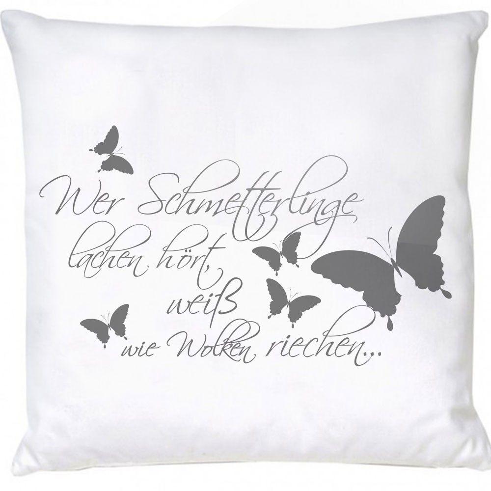Stylotex Dekokissen Wer Schmetterlinge lachen hört ...