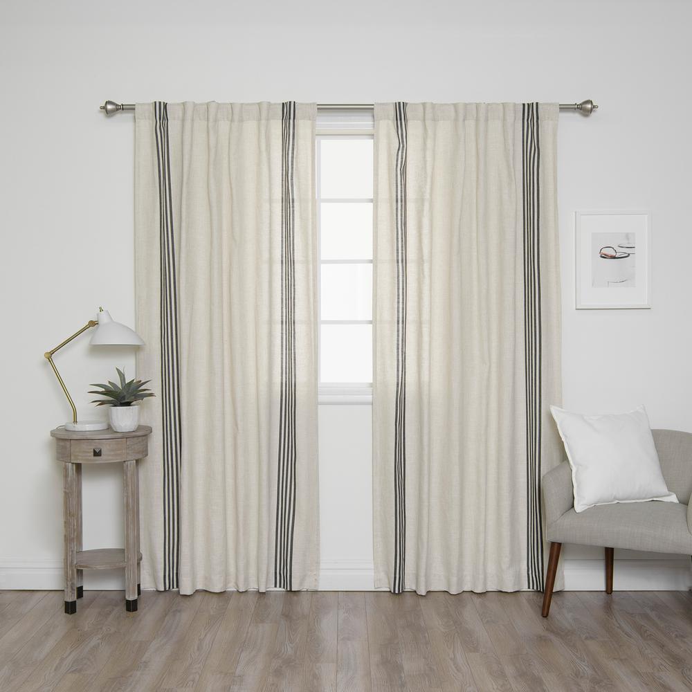 l linen blend ivory curtain panels