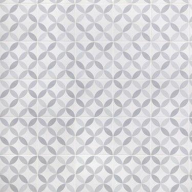 Norwalk Floor Deco Gray 8x8 Matte Porcelain Tile