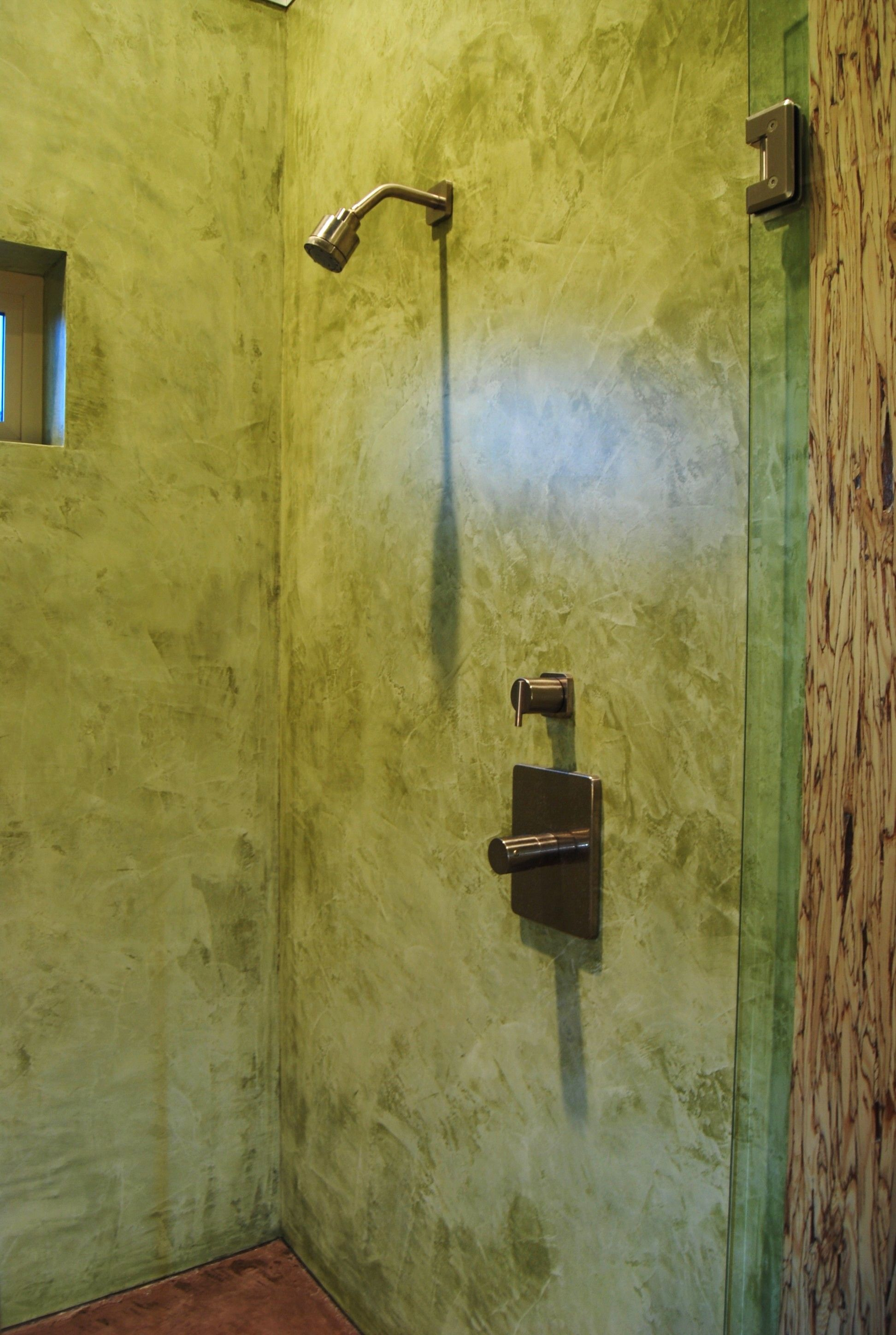 Yet another one of our showers. plaster