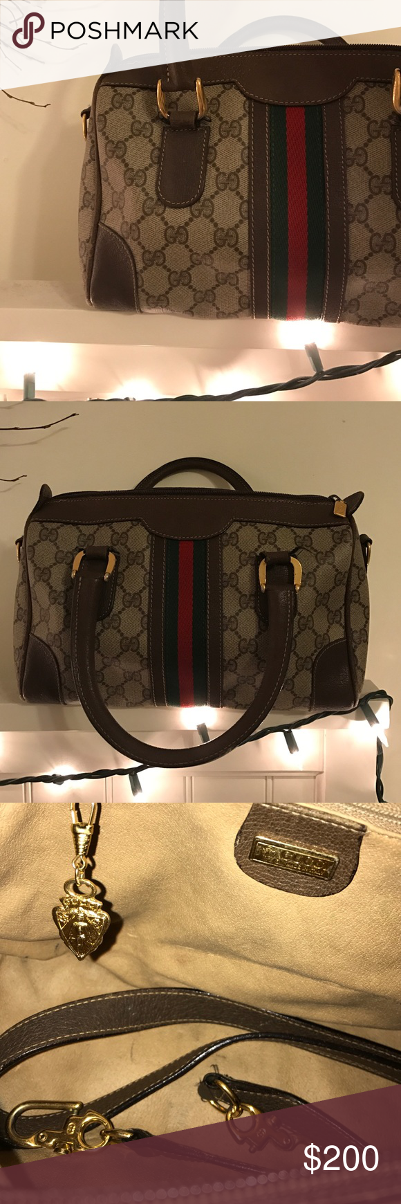 Vintage GUCCI Avery Collection Handbag Vintage Collector GUCCI bag!! Still in very good condition but has a couple of scuff marks on the one side of the bag Gucci Bags Shoulder Bags