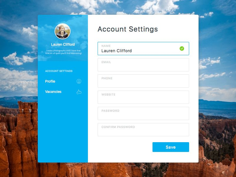 Account Settings Sketch freebie - Download free resource for