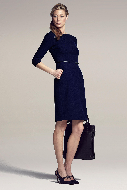 Black dress office - Office Look Etsuko Dress In Deep Indigo With Black Accessories Mm Lafleur