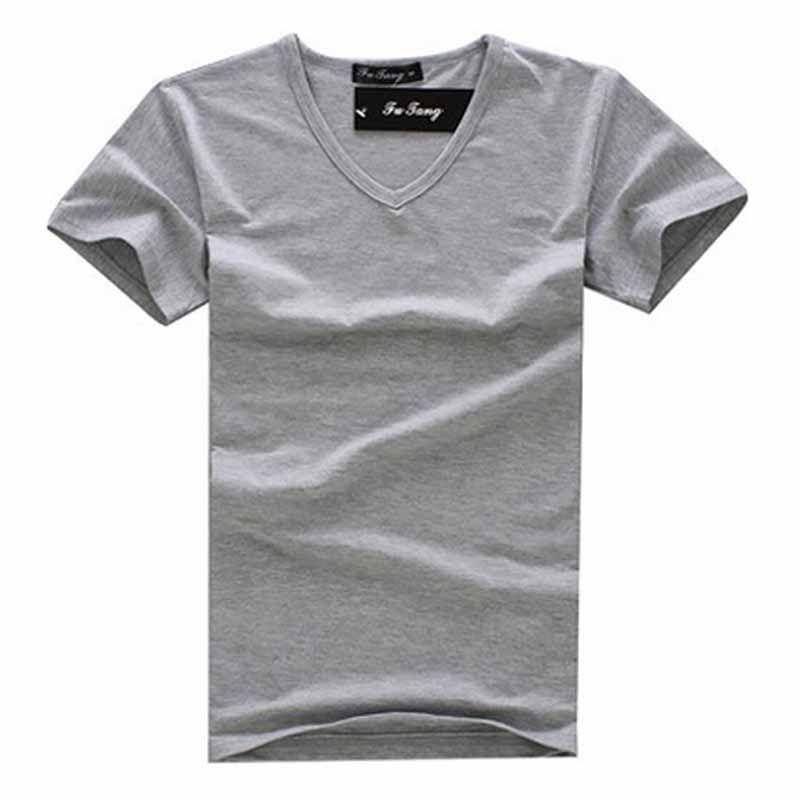 Free Shipping 2013 summer Hot Sale blank men's casual short sleeve V-neck T-shirt/shirt  black/gray/green/white M-XXL MTS181