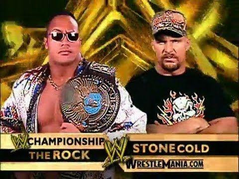 Wwe Wrestlemania 17 The Rock Vs Stone Cold Steve Austin The Rock Dwayne Johnson Wwe Events Wrestlemania