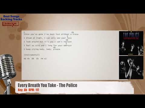 Every Breath You Take The Police Vocal Backing Track With Chords