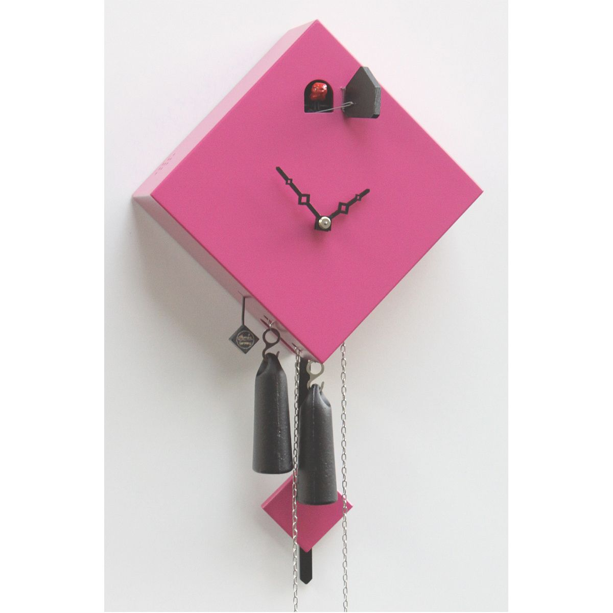 Cuckoo Design In Diamond Shape Pink Modern Cuckoo Clocks Modern Clock Clock