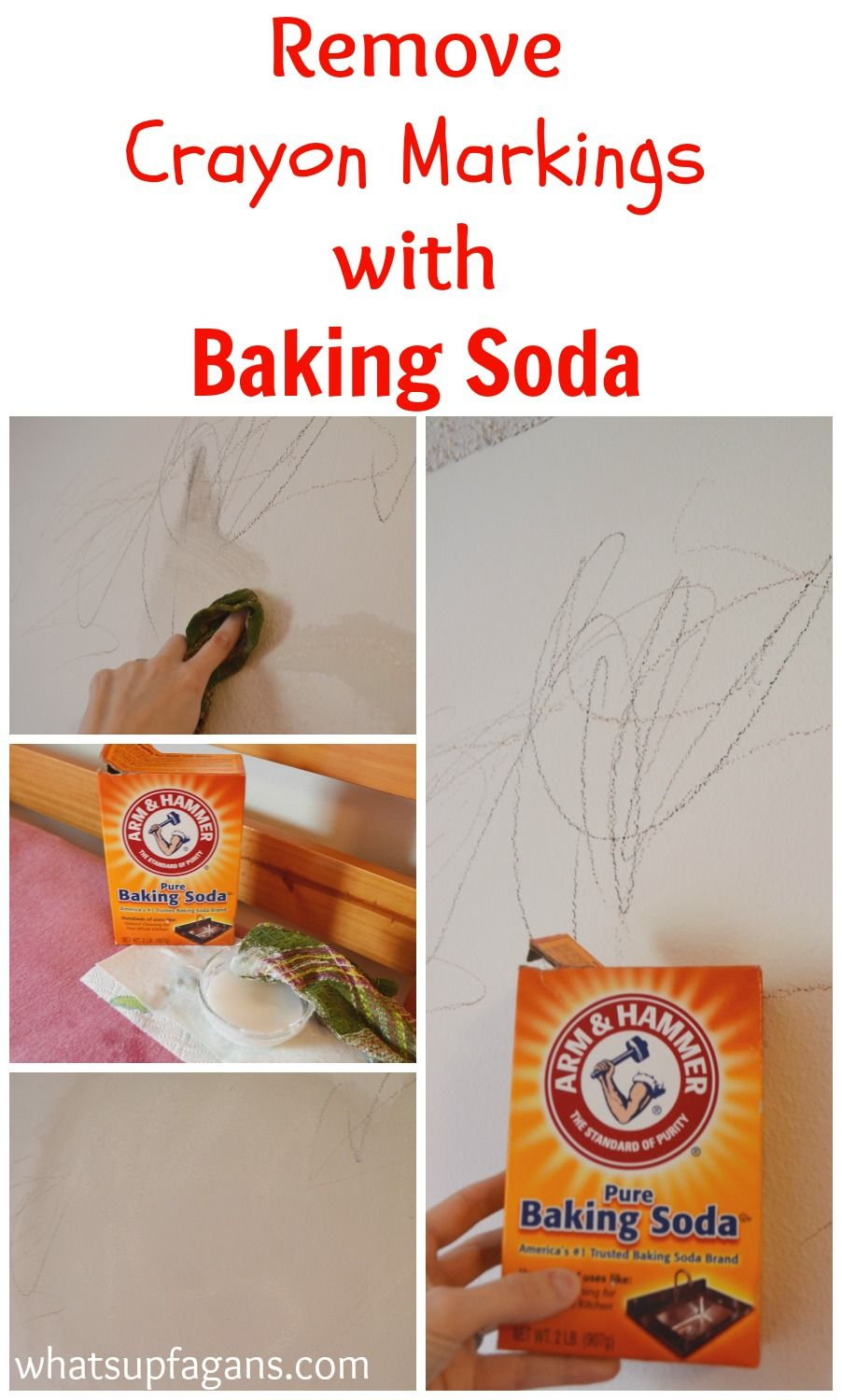 Great Tutorial On How To Use Baking Soda Remove Crayon From Walls Plus Some Other Helpful Methods Try Diy Cleaning Tip Hacks