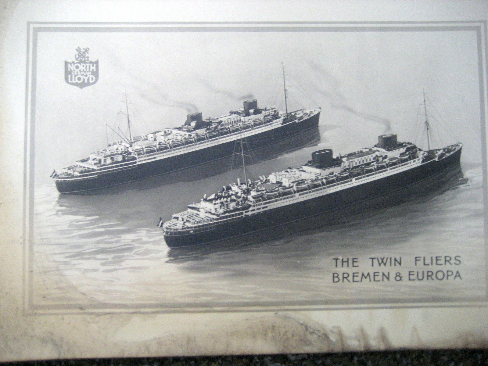 classic styles great quality buy good North German Lloyd Poster of Bremen & Europa / Circa 1930's ...