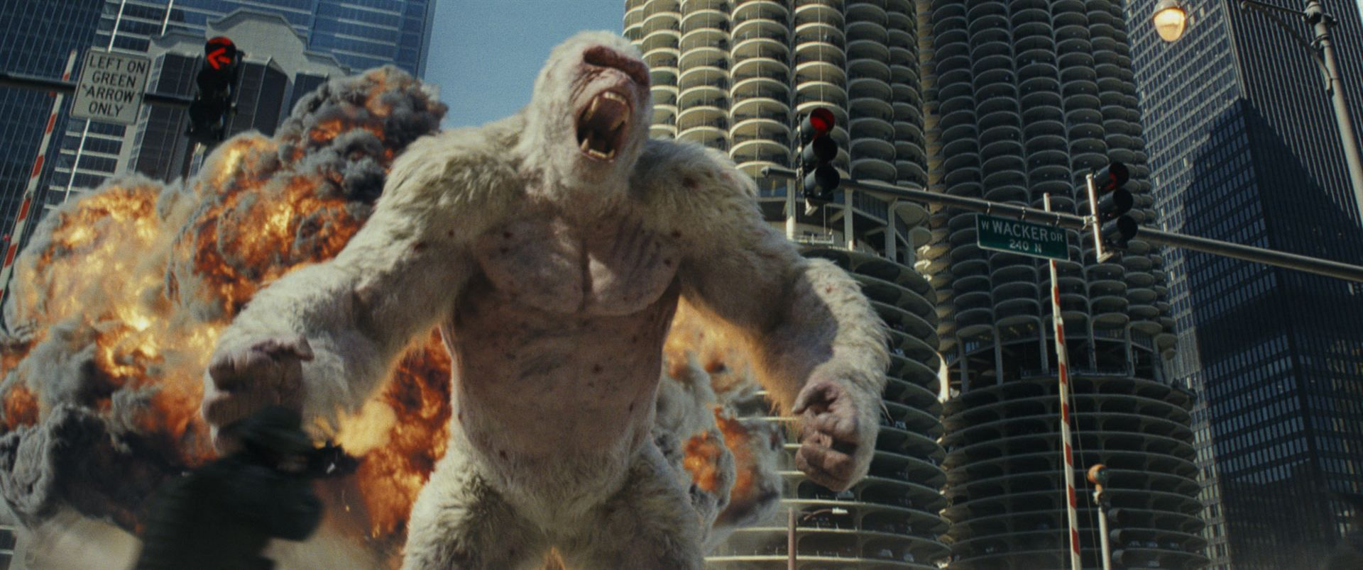Critica Rampage Destruicao Total 2018 Brad Peyton Com Imagens Dwayne The Rock Rock Johnson Filmes