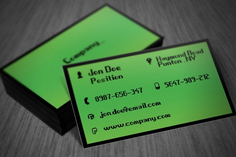 Interesting Green It Business Card Psd Template Suitable For Any