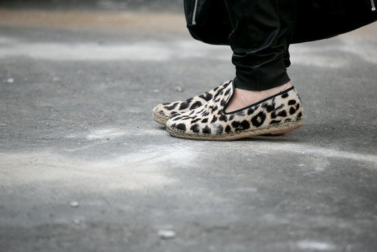 New York Fashion Week Spring 2014 leopard loafers
