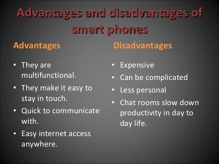 disadvantages of mobile phones for childrens