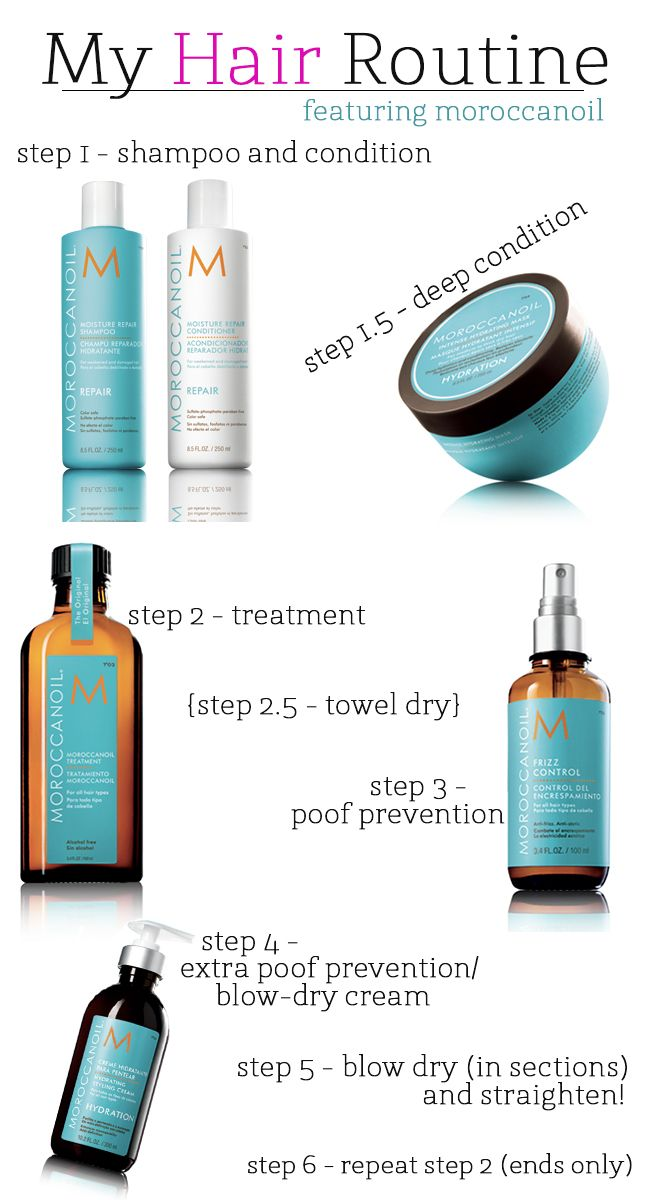 How To Take Care Of Hair After Temporary Straightening And Keep It Straight Hair Routines Hair Care Routine Moroccan Oil
