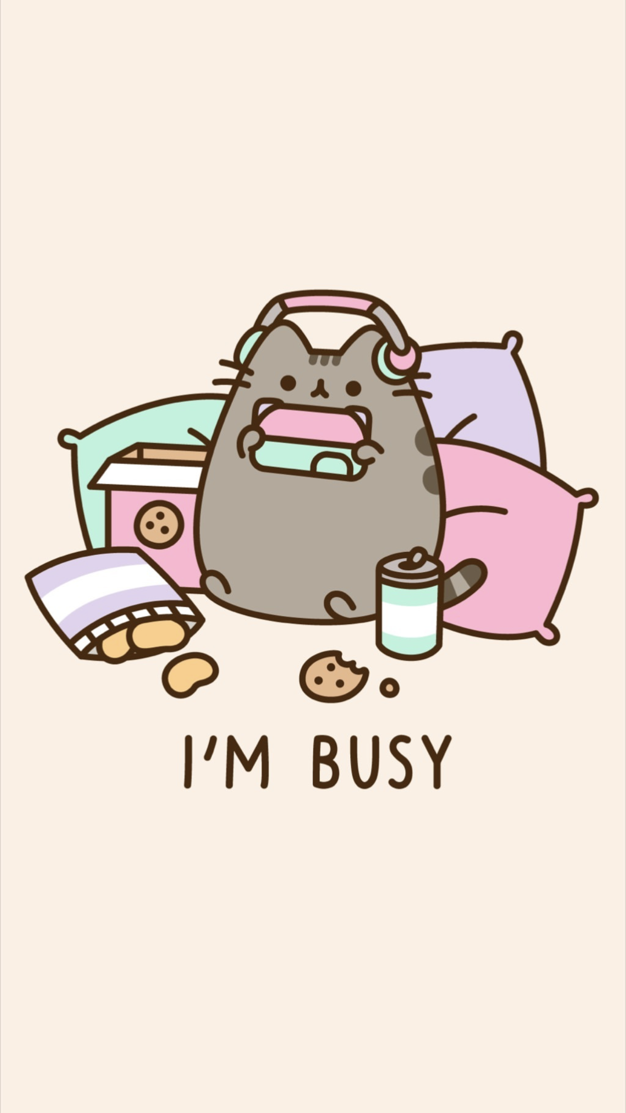 Pusheen The Cat Iphone Wallpaper Background Pusheen Gamer Kitty Cikartma Star Wars Sanati Doodle Desenleri
