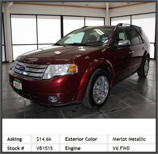 2008 Ford Taurus X Limited Wagon Heated Mirrors Privacy Glass Power Driver Seat Rear Bucket Seats Power Steering Aluminum Wheels Cars For Sale Luggage Rack