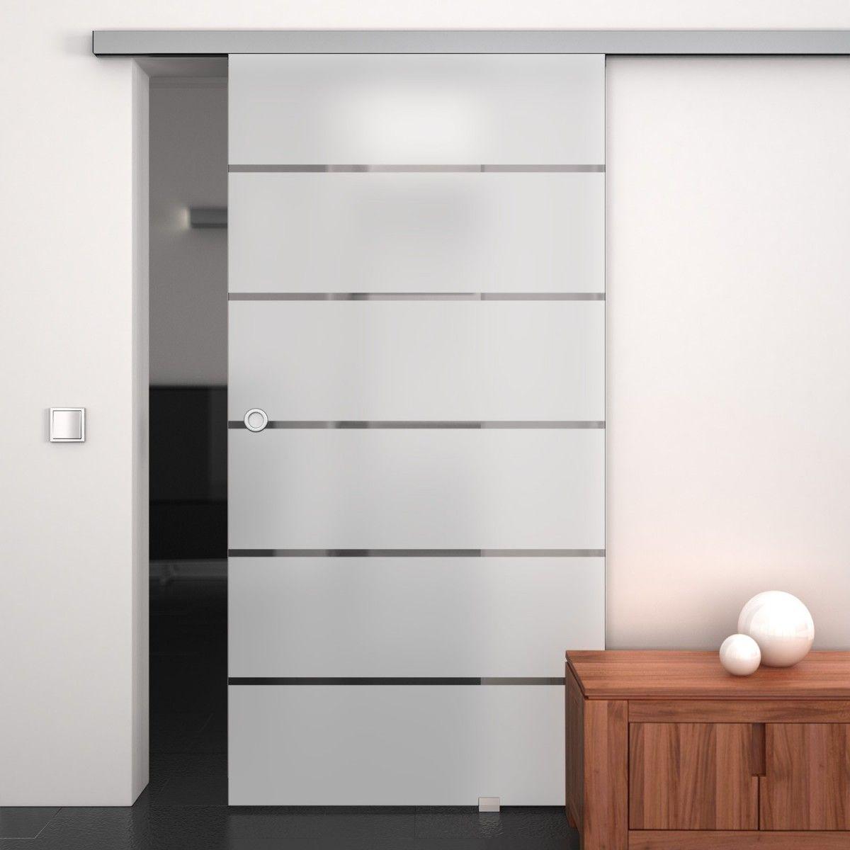 Glas-Schiebetür satiniert mit Motiv Kashi 989706279 | Sliding doors ...