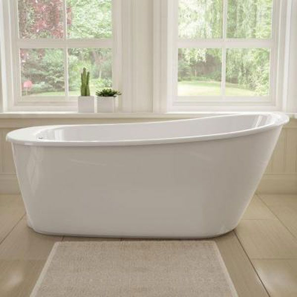 Maax Sax 60 In Fiberglass Reversible Drain Non Whirlpool Flatbottom Freestanding Bathtub In White 105797 000 002 100 The Home Depot Free Standing Bath Tub Free Standing Bath Free Standing Tub