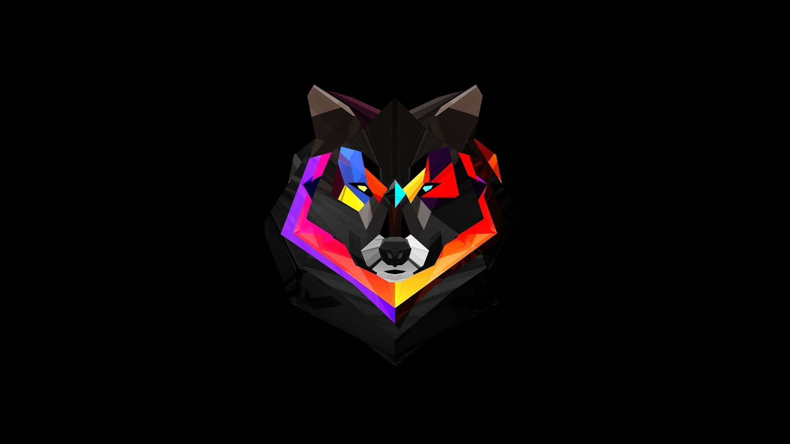General 2560x1440 Abstract Wolf Wolf Wallpaper Geometric