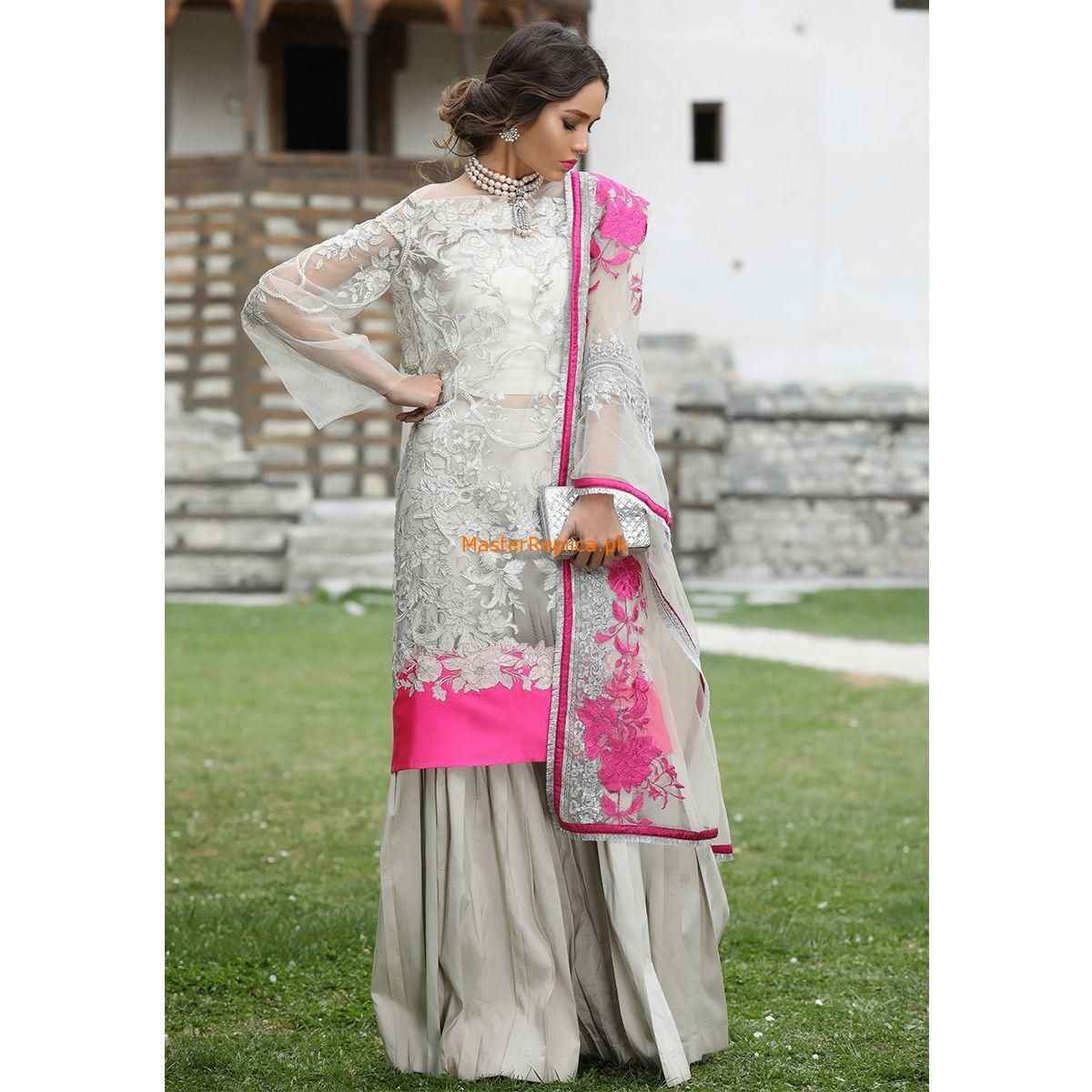 9ecd69fdcf SANA SAFINAZ Latest 18-05A Embroidered Net Collection Replica 2018. June  2019