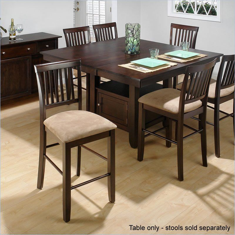 Jofran Counter Height Dining Table With Butterfly Leaf In Cherry