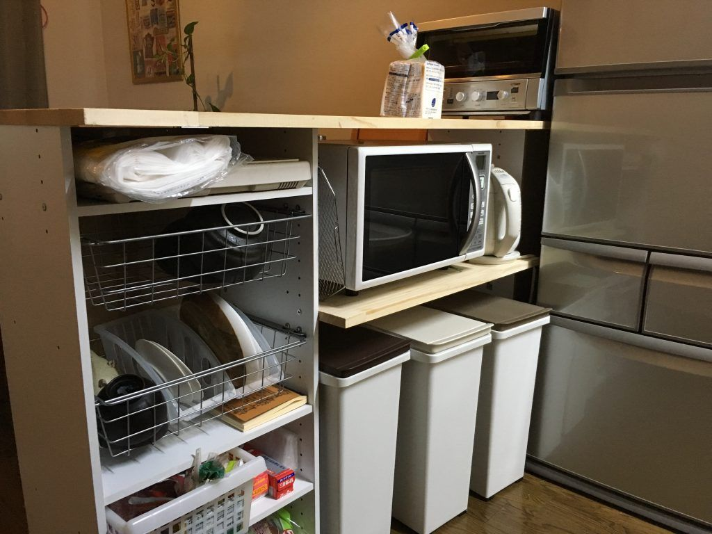 超簡単diy ニトリのカラーボックスで キッチンカウンター を自作しま