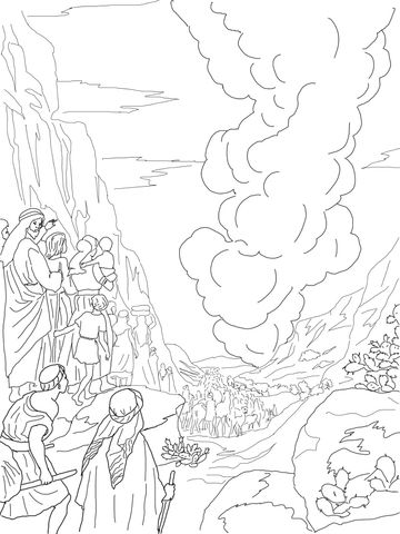 Pillar of Fire and Cloud coloring page from Exodus category jehovah