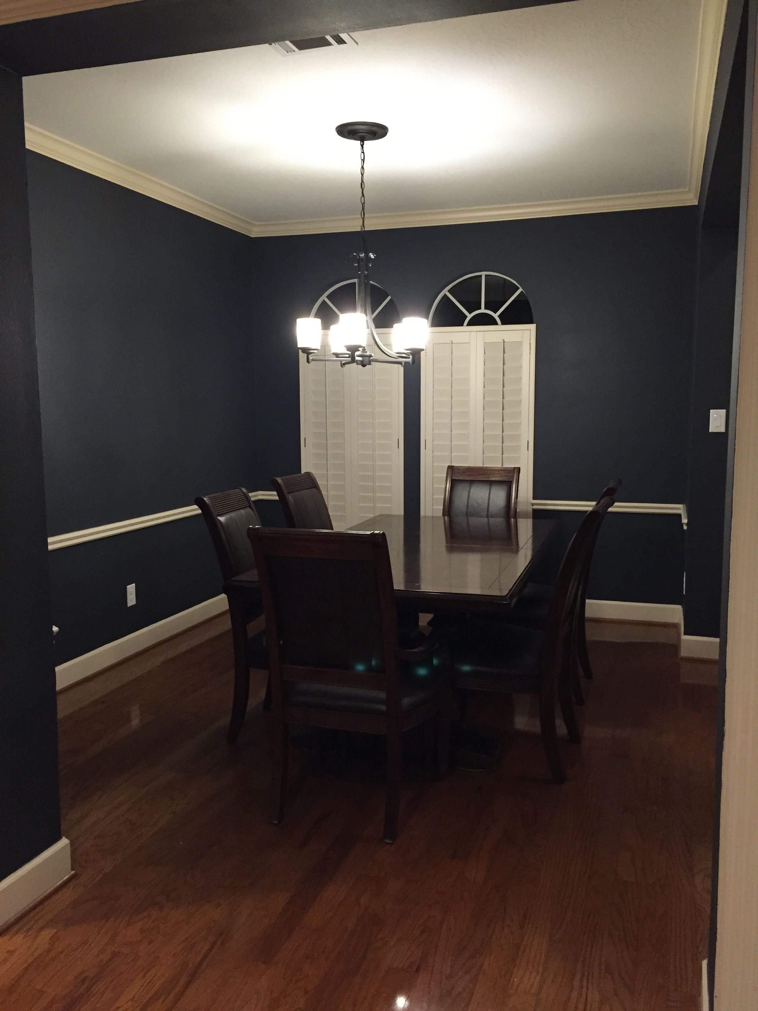 After Painting With Sherwin Williams 7076 Cyberspace Media