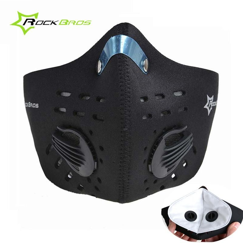 Rockbros Sport Face Mask Pm 2 5 Dust Proof Cycling Mask Activated Carbon Filter Running Face Shield Training Bicycle Bike Face Mask Cycling Mask Half Face Mask