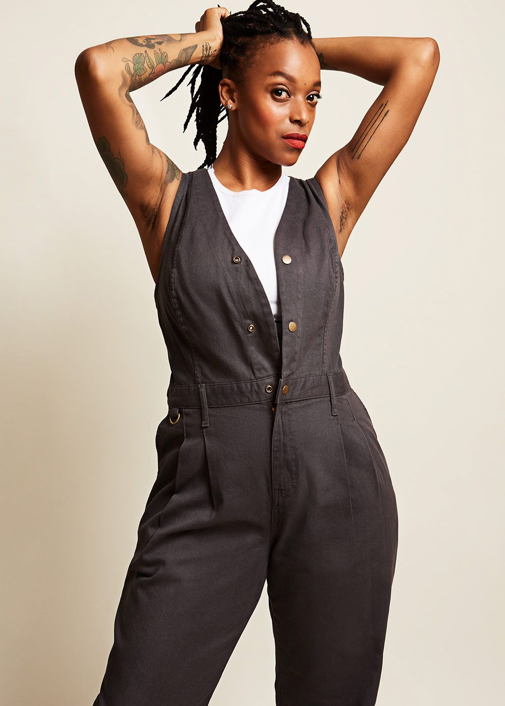 Open Front Overalls - Slate Grey   Overalls gray, Overalls