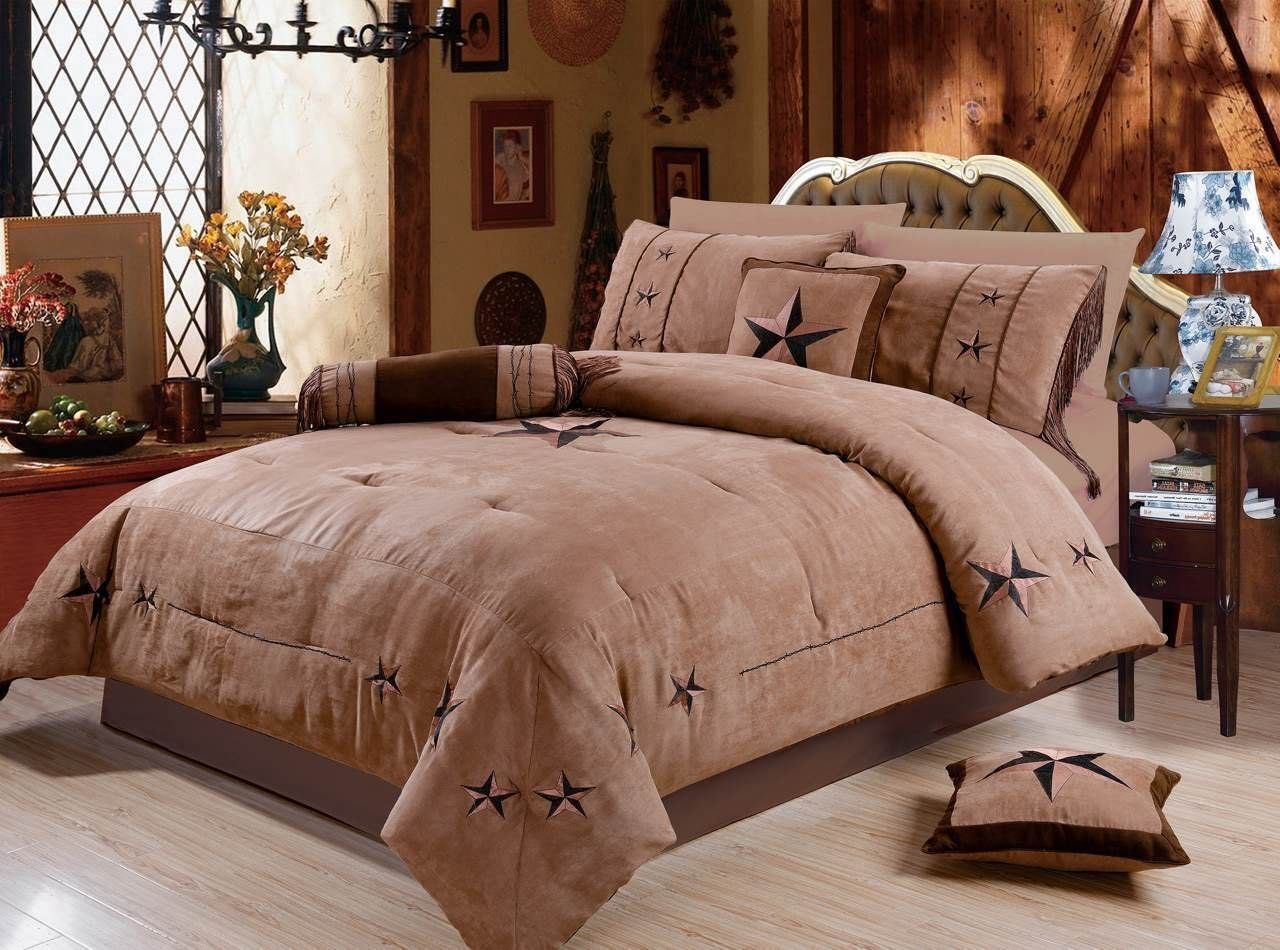 Rustic 7 Piece Luxury Beautiful Embroidery Western Texas