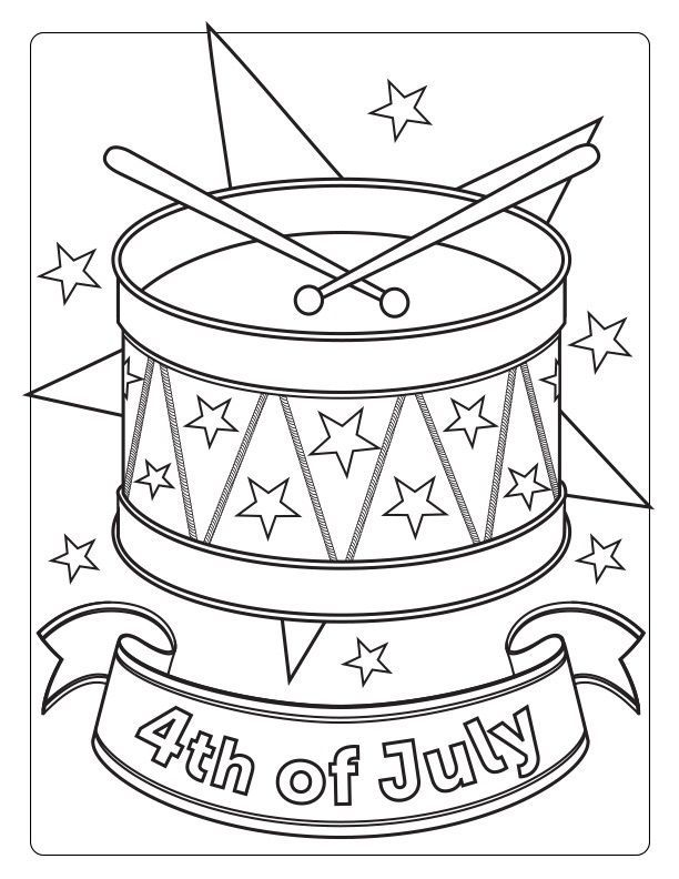 Pin By Fourth Of July On Coloring Pages Fourth Of July Color Activities July Colors