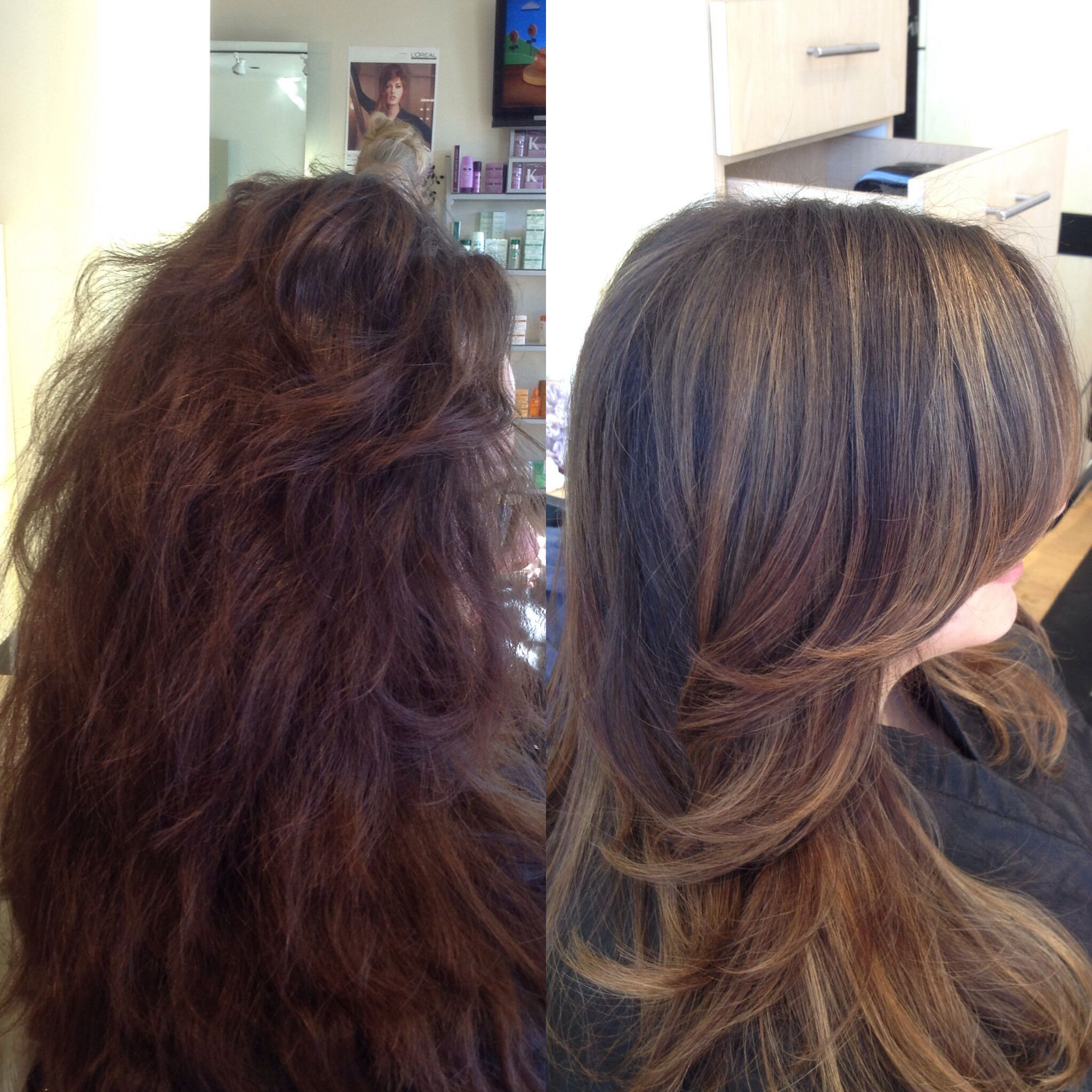 Balayage Melt Haircut And Smooth Blowdry Hair By Danni Sjoden At